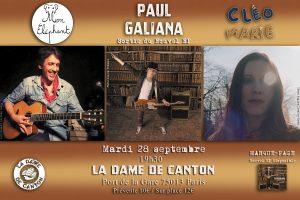 Paul Galiana, Mon Eléphant et Cléo Marie à la Dame de Canton 28 septembre 2021